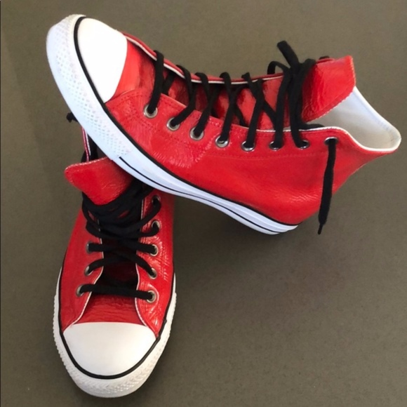Converse Other - Barneys NY 'BNY Sole Series' CONVERSE RED HIGH TOP